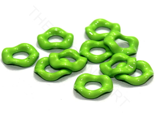 Peridot Green Designer Ring Acrylic Beads | The Design Cart