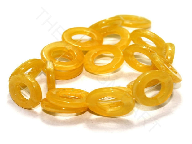 Yellow Ring Acrylic Beads | The Design Cart (4336239870021)