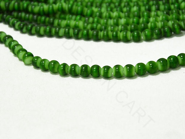 Bright Green Spherical Glass Pearls | The Design Cart