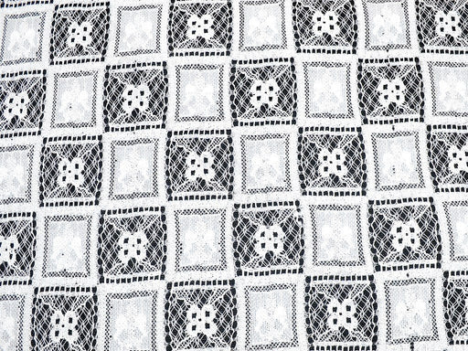 White design 6 Nylon Net Fabric
