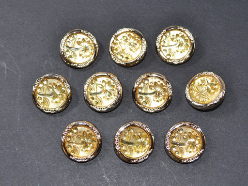 Yellow Flower Acrylic Buttons