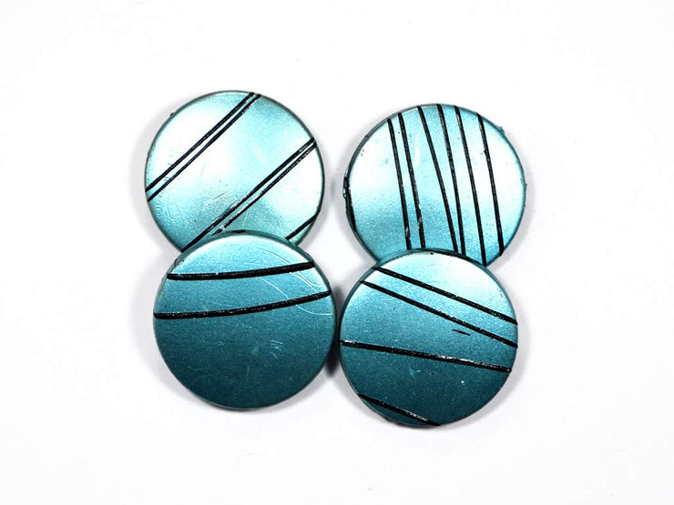 Turquoise Circular Acrylic Stones | The Design Cart (1729477967906)