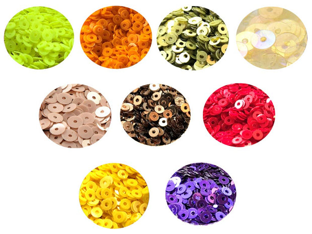 Assorted Pack Of 9 Sequins Combo 4