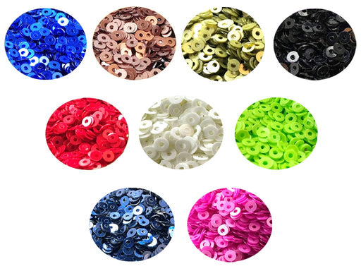 Assorted Pack Of 9 Sequins Combo 6