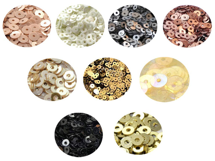Assorted Pack Of 9 Sequins Combo 2