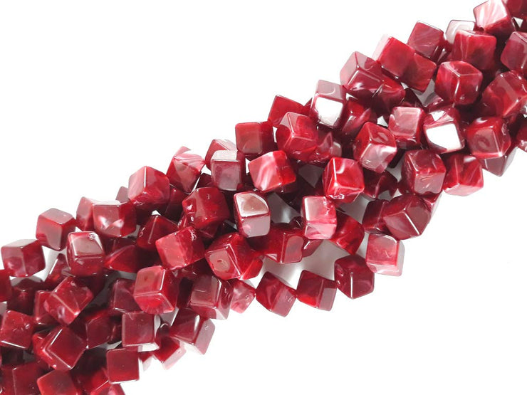 Red Cubical Resin Stones | The Design Cart (1729478262818)
