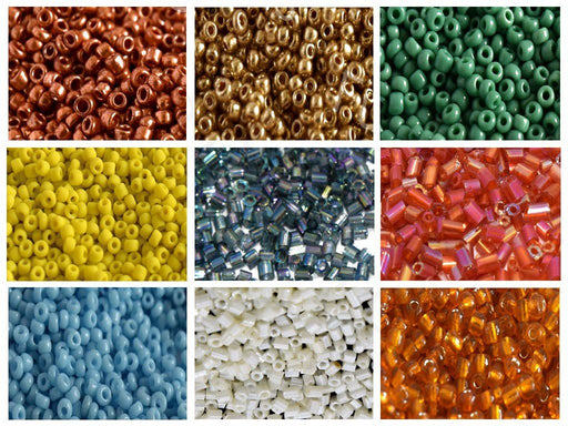 Assorted Round + Cut Seed Beads Combo