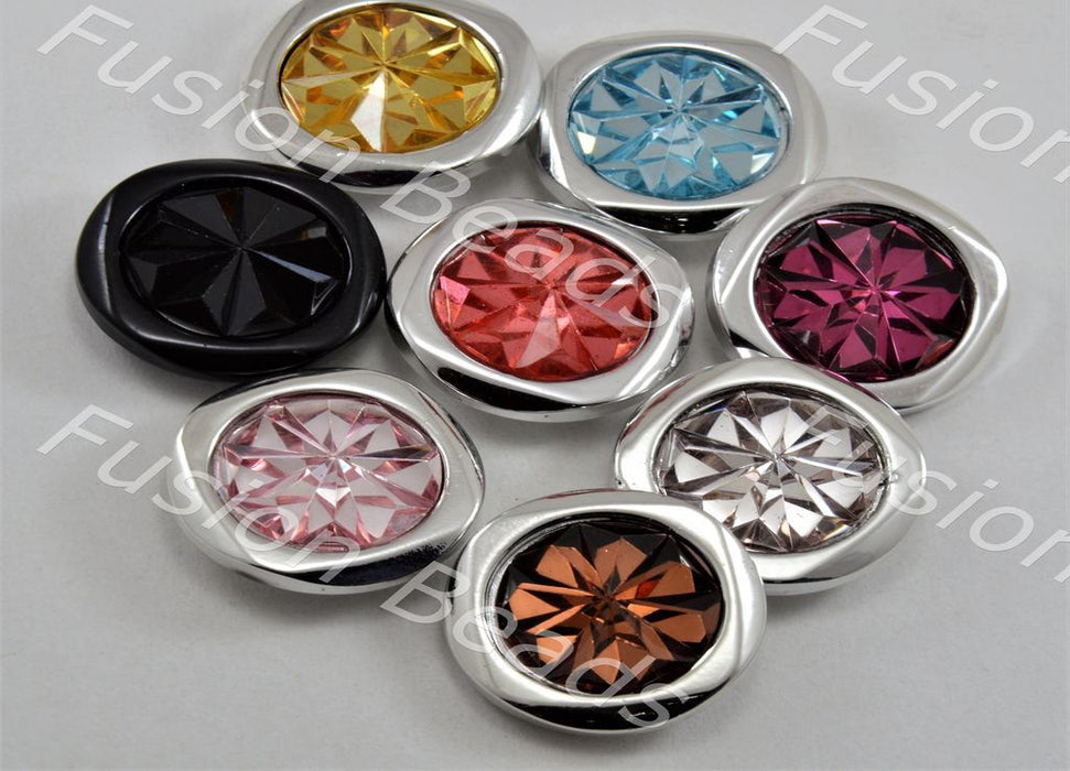 Assorted Pack of Sunflower Design Crystal Buttons