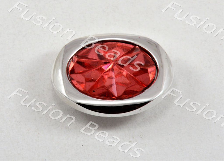 Red Sunflower Crystal Button (370481365026)