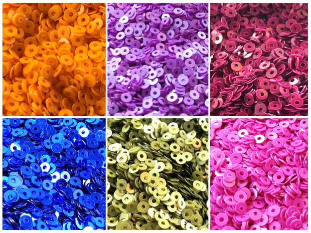 Assorted Pack Of 6 Sequins Combo 1 (1812366950434)