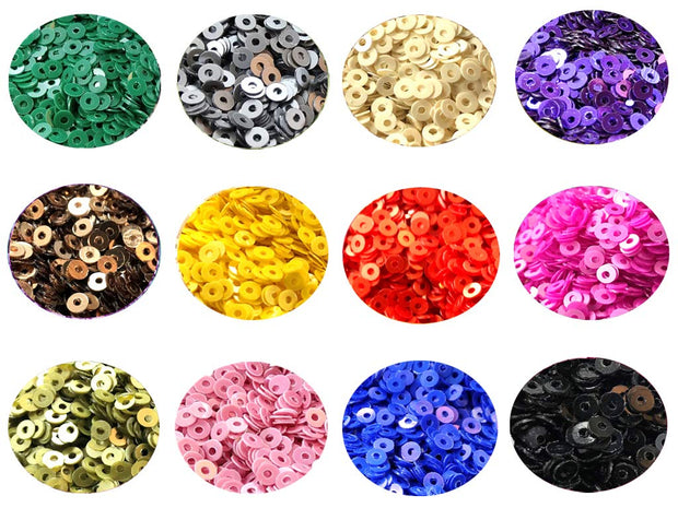 Assorted Pack Of 12 Sequins Combo 15