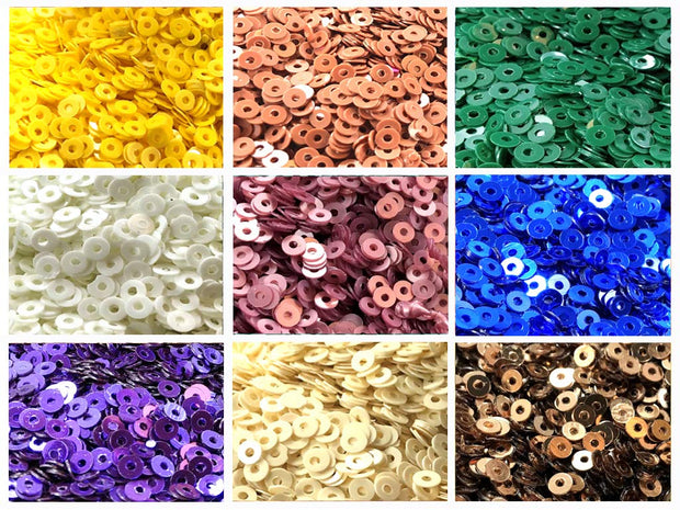 Assorted Pack Of 9 Sequins Combo 8
