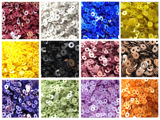 Assorted Pack Of 12 Sequins Combo 19