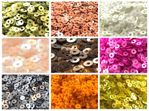 Assorted Pack Of 9 Sequins Combo 10
