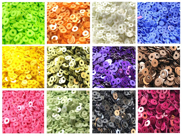 Assorted Pack Of 12 Sequins Combo 17