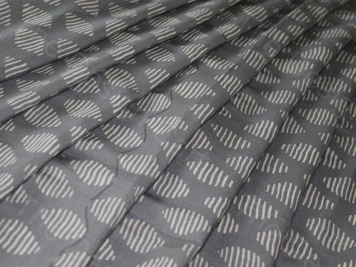 Gray White stripes Design Cotton Rayon Fabric