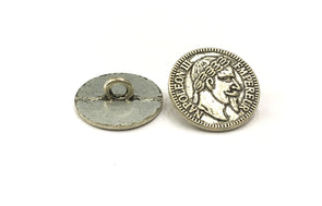 Antique Silver Coin Metal Buttons