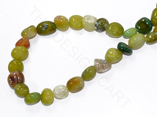 Green Round Pebble Semi Precious Quartz Stones