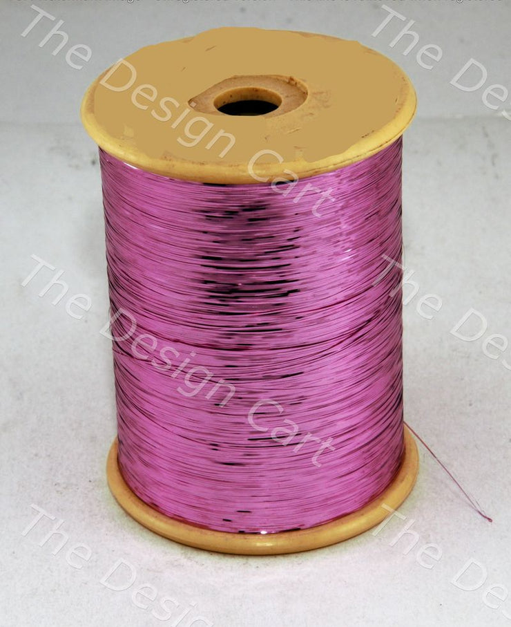 Pink Flat Badla (Metallic Yarn) - The Design Cart (12577441235)