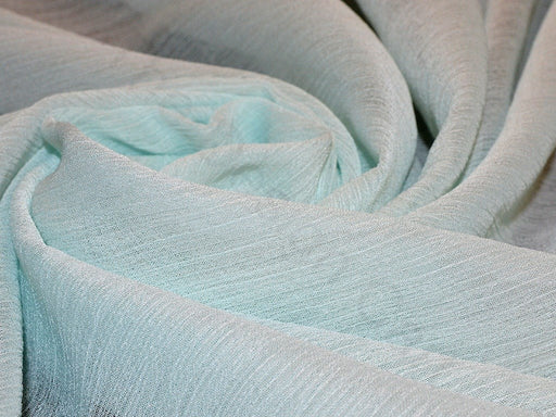 Light Turquoise Poly Chiffon Fabric