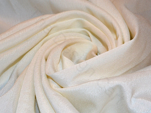 White Poly Crepe Fabric
