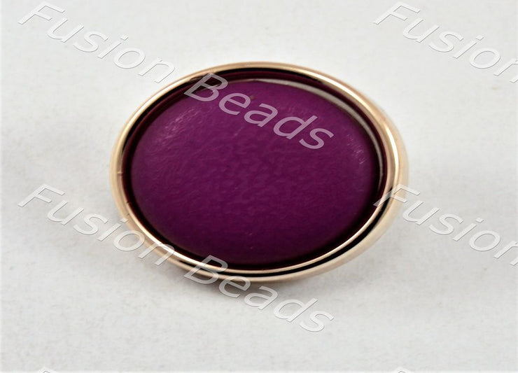Violet Matt Finish Button (379850752034)