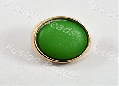 Green Matt Finish Button