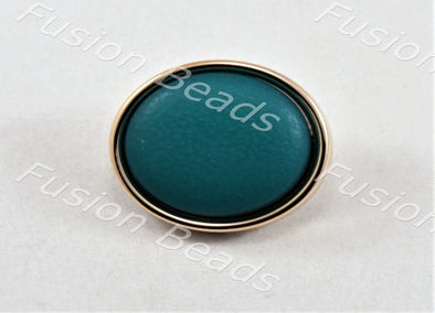 Teal Matt Finish Button