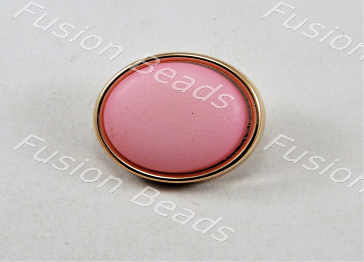 Baby Pink Matt Finish Button (379851046946)