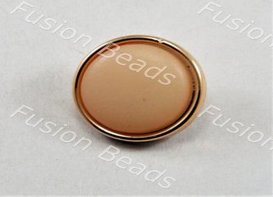 Peach Matt Finish Button