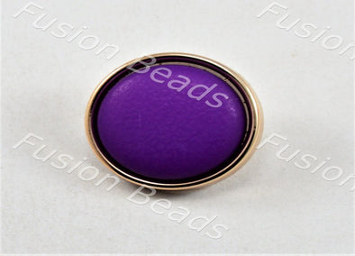 Dark Purple Matt Finish Button