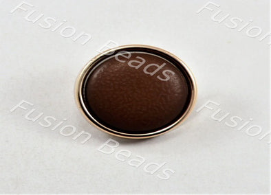 Brown Matt Finish Button