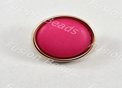 Magenta Matt Finish Button