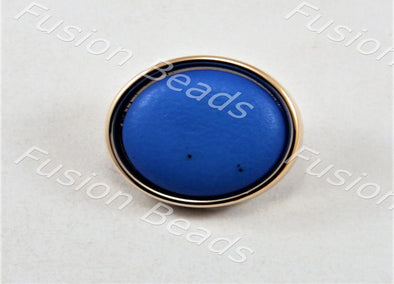 Blue Matt Finish Button