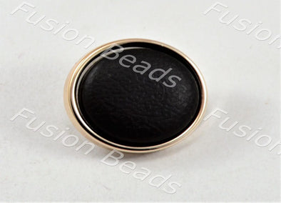 Black Matt Finish Button