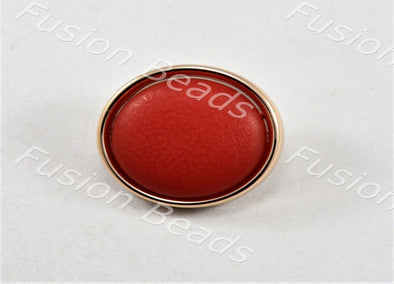 Red Matt Finish Button
