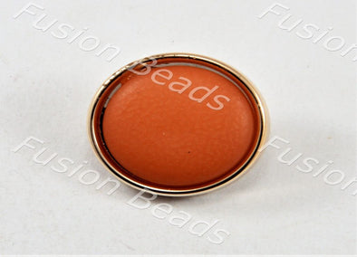 Orange Matt Finish Button
