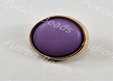 Purple Matt Finish Button