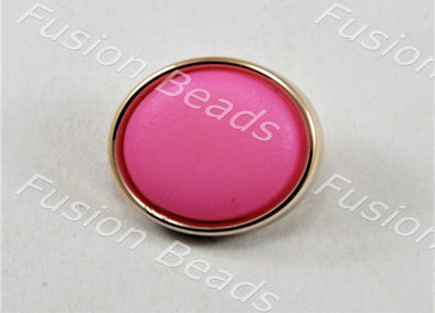 Pink Matt Finish Button