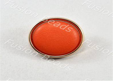 Bright Orange Matt Finish Button