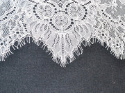White Design 8 Imported Nylon Net Fabric