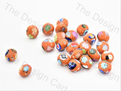 Orange Apple Italian Chip Beads