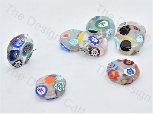 Transparent Flat Circular Italian Chip Beads - The Design Cart