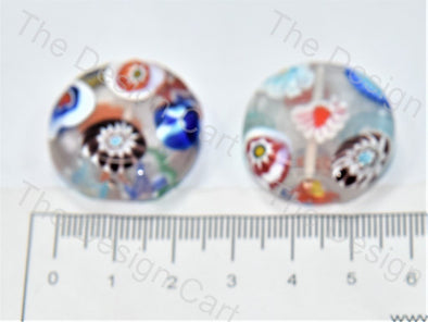 Transparent Flat Circular Italian Chip Beads