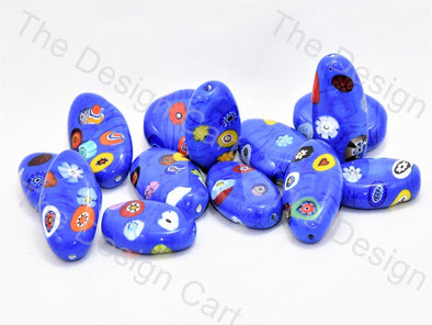 Blue Boat Italian Chip Beads