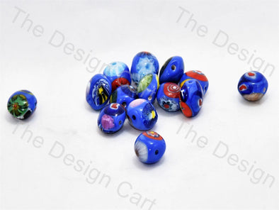 Blue Apple Italian Chip Beads