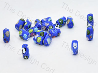 Blue Drum Italian Chip Beads