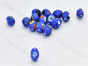 Blue Small Oval Italian Chip Beads