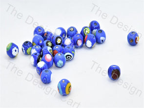Blue Small Spherical Italian Chip Beads