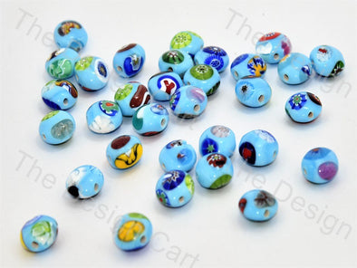 Turquoise Apple Italian Chip Beads
